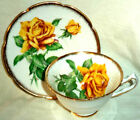 Saucer Golden Rose Yellow Gold Trim Made in England