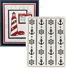 NAUTICAL Darice embossing folders 1219 209 anchor cruise Cuttlebug compatible