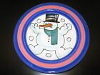 Deruta Christmas Snowman Rimmed Bowl Plate ITALY  Nice!