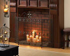 FRENCH REVIVAL FIREPLACE SCREEN FLEUR DE LIS EMBELLISHED IRON NEW 10015400