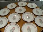 12 CORELLE BY CORNING CALLAWAY IVY HOLIDAY CHRISTMAS 10 1/4