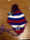 NCAA Team Apparel Kansas Jayhawks Pom Tassel Knit Beanie Hat - NWT Youth 8-20