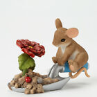 Charming Tails Bloom Wherever You're Planted Gardening Mouse and Flower Figurine