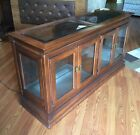 MCM ASIAN ORIENTAL BROYHILL GLASS SHELF CREDENZA LIGHTED DISPLAY CURIO CABINET
