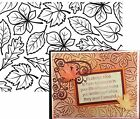Leaves Embossing Folders FOLIAGE Darice 1219 120 Cuttlebug Compatible folder A2