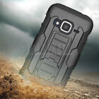 Rugged Hybrid Armor Case Hard Cover Belt Clip Holster For ZTE Concord 2 II Z730