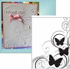 Darice Embossing Folders BUTTERFLY SWIRL 1216 64 Insects Cuttlebug Compatible