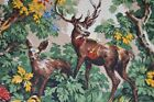 AUTUMN IN THE FOREST VTG GERMAN LARGE PRINT HUNTING TABLECLOTH DEER XMAS GIFT