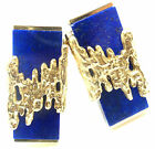 Rare! Authentic Patek Philippe 18k Yellow Gold Lapis Lazuli Cufflinks Box
