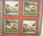 1 Yd Patriotic Quilt Fabric Pillow Panel Patriots Point Horses Flags Eagles