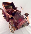 Vintage Cooper Brass Tin Metal Antique Car Model T Convertable Music Box