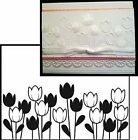DARICE Embossing Folders SPRING TULIPS Cuttlebug Compatible folder NEW 1218 44
