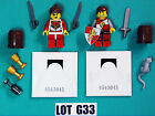 Lot G33 New Lego Minifigure King & Queen CASTLE LORD PIRATE WEAPON 2013 7-14