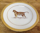 Jungle Tiger Accent Salad Dessert Plate Royal Gallery Gold Buffet Encrusted Band