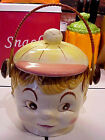 Vintage GRANDCREST Hand-Painted Japan Boy W/ Baseball Cap Cookie Jar