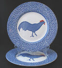 Leigh Burleigh Chanticleer Dinner Plate Made in England Blue Edge two