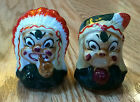 VINTAGE NATIVE AMERICAN INDIAN SALT PEPPER SHAKERS JAPAN