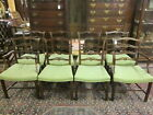 Set of 8 Custom Mahogany Ribbon Back Dining Chairs