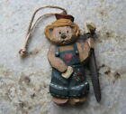 Boyds Jill Strausbaugh Wood Ornament---Gardener Bear
