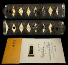 NBTHK Certificated Japanese Edo 18-19th C Antique Tsuka w Menuki Fuchi/Kashira