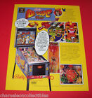DR DUDE By BALLY 1990 ORIGINAL NOS FLIPPER PINBALL MACHINE PROMO SALES FLYER