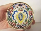 Vintage Italian Torrigiani Firenze Family Crest Butter Pat Miniature Plate Italy