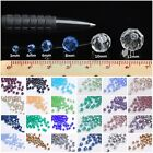32 Facets Round Faceted Crystal Glass Loose Beads 3mm 4mm 6mm 8mm 10mm 12mm
