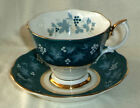 Royal Albert Cup and Saucer Chateau Series Nancy Teal Green Made In England