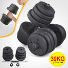 20KG 30KG Dumbbell Set Weight Training Lifting Gym Fitness Workout Barbell Bar