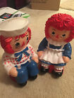 RAGGEDY ANN AND ANDY VINTAGE 11 INCH PAIR OF BANKS TOYS