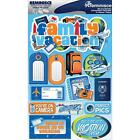 REMINISCE FAMILY VACATION TRIP TRAVEL DIMENSIONAL 3D SCRAPBOOK STICKERS