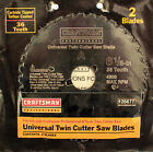 Craftsman 6 1 8 Carbide Replace Blade 2pk Universal Twin Cutter Saw Blades Pro