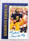 TK LEGACY MICHIGAN AUTO MICHAEL TAYLOR AUTO QUARTERBACK CLUB 63 200 QB19