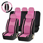 22pc Premium Mesh Steering Wheel Seat Covers 405060 Split Bench Cover For Cars