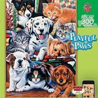 NEW Masterpieces Jigsaw Puzzle 300 Easy Grip Big Pieces HIDE AND SEEK Dogs Cats