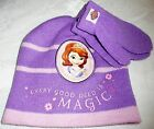Disney SOFIA THE FIRST Beanie & Gloves Set Girls - Purple (section 9)
