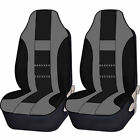2pc Racing High Back Double Stitched Front Universal Seat Covers Set For Suv