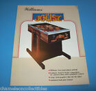 JOUST By WILLIAMS 1983 ORIGINAL HEAD TO HEAD PINBALL MACHINE SALE FLYER BROCHURE