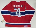 JEAN BELIVEAU SIGNED MONTREAL CANADIENS THROWBACK JERSEY PSA DNA AUTHENTIC COA