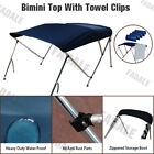 3 Bow Boat Bimini Top 6ft Canopy Cover 61 66 Free Clips Support Poles PB3N1
