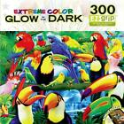 Masterpieces GLOW IN THE DARK Jigsaw Puzzle 300 Large Pieces EZ Grip BIRD FIESTA