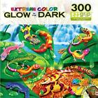 NEW Masterpieces GLOW IN THE DARK Jigsaw Puzzle 300 Piece EZ Grip GECKOS GALORE