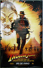 E2002 INDIANA JONES CRYSTAL SKULL HARRISON FORD GREAT ORIG BANNER POSTER SPAIN