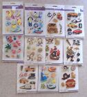 Forever In Time 3D Handmade Glitter Stickers 11 Choices NEW