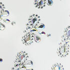 CraftbuddyUS 12 AB Clear 25mm Self Adhesive Diamante Dragonfly Rhinestone Gems