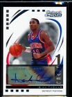 ISIAH THOMAS 2007-08 TRADEMARK MOVES 61 75 AUTOGRAPH