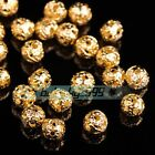 4mm 5mm 6mm 8mm 10mm 12mm Goldsilver Metal Loose Spacer Beads Jewelry Making