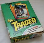 NEW 1990 Topps Traded Baseball Trading Cards Box 36-ct Packs olerud RC rookie 90