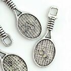 28x10x2mm Silver Pewter Tennis Racket Finding 12PC  ~ Lead-Free ~ (DFD24)a