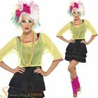 Ladies 80s Pop Star Costume Madonna Fancy Dress Adult Womens Outfit Size 8-14